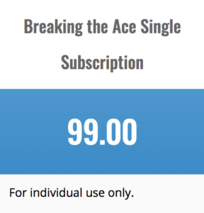 Breaking the ACE Single Subscription